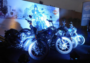 Harley-Davidson Motorcycles On Display
